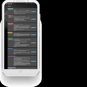TULIP HR sekce na mobilu